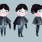 Boy character drawing